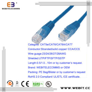 Cat5e/CAT6/CAT6A/ Cat7 SFTP Patch Cord/Patch Cable pictures & photos