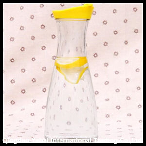 Glass Tea Jar with Colored PP Lid pictures & photos