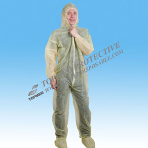 Disposable Nonwoven Protective Clothing of Coverall pictures & photos