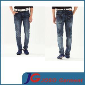Black Pocket Light Whiskers Wash Wrinkle Sport Men Jeans (JC3337) pictures & photos