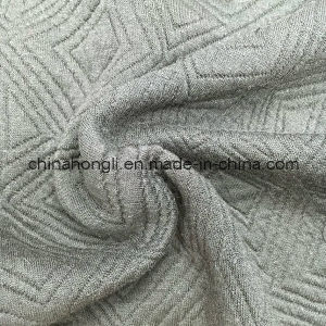 345GSM, R/P/Sp 50/45/5, Jacquard Knitting Garment Fabric pictures & photos