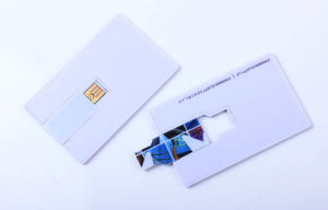 Full Color Printing USB Flash Drive Business Card Pen Drive Credit Card USB (CC02B) pictures & photos