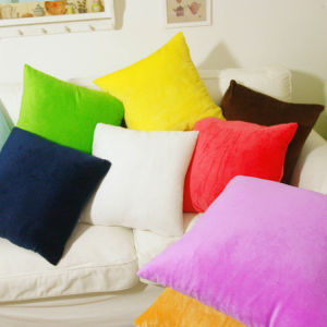 Short Plush Polyester Cushion pictures & photos