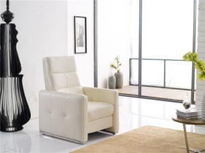 White Color Push Back Recliner Arm Chair pictures & photos