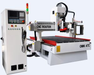 Automatic Changer 3D CNC Router for Wood Cabniet Door Making