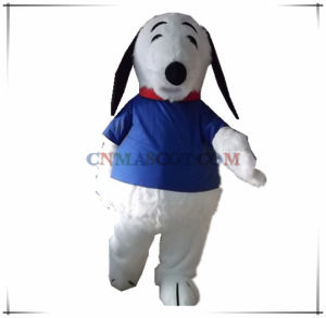 Super Quality Long Plush Snoopy Dog Mascot Costume pictures & photos