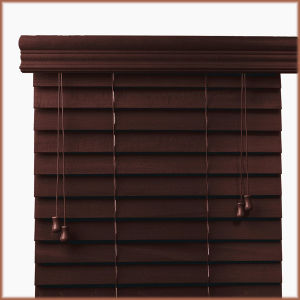 Cord Control High Profiel Metal Head Rail Basswood Blind pictures & photos
