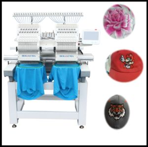 The Best Two Head 15 Colors Embroidery Machine for Multi Functions Cap/T-Shirt/Flat Garment/Towel/3D Embroidery pictures & photos