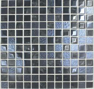 Bathroom / Swimming Pool Ceramic Glass Mosaic Tile (VM23055)