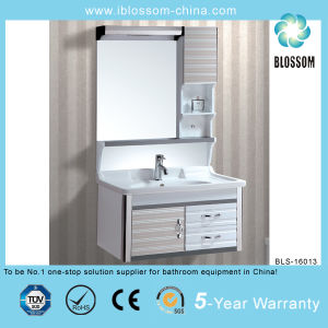 Resin Basin Bathroom Vanity Silver Mirror Bathroom Cabinet (BLS-16013) pictures & photos