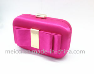 Four Color Silk Ladies clutch Bag, Party Eveningbag pictures & photos