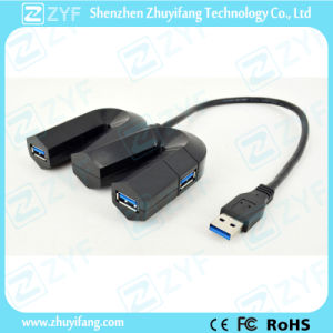 Letter M Shape 4 Port USB 3.0 Hub (ZYF4122) pictures & photos