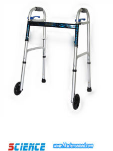 Folding Moveable Walker for Disable Adult with Wheels Sc-13005f pictures & photos