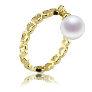 Gold Plated Natural Real Resizable Pearl Ring