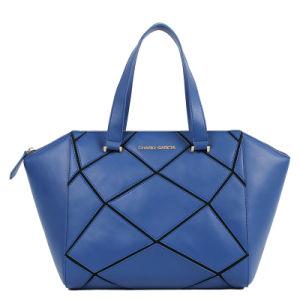 Lady Fashion Puzzle Pieces Combination Cow Leather Handbag (88143) pictures & photos