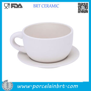 High Quality Latte Ceramic Coffee Cup with Saucer pictures & photos