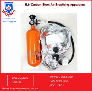 3L Carbon Steel Gas Mask Positive-Pressure Firefighting Air Respirator pictures & photos