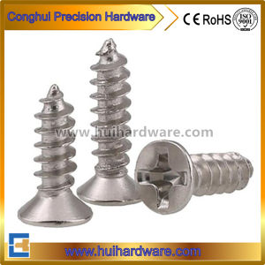 Ss304/316/410 Flat/ Csk/ Countersunk Head Self Tapping Screws DIN7982 pictures & photos