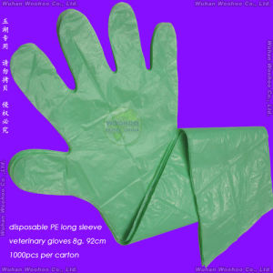 Disposable LDPE Veterinary Gloves pictures & photos
