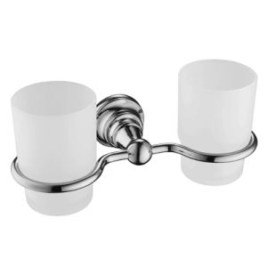 Bathroom Double Tumbler Holder in Chrome for Hotel Decor pictures & photos