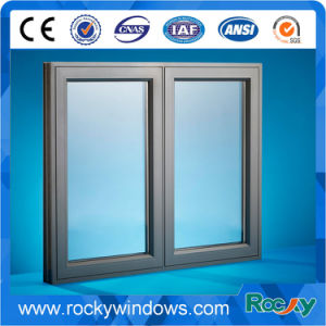 Champagne/Bronze Aluminium Double Casement Window pictures & photos