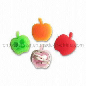 Apple-Shape Silicone Earphone Cord Protector Wrap (SNY3670)