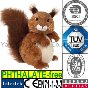 Squirrel Toy Wheat Bag Microwave Heated Hand Warmer