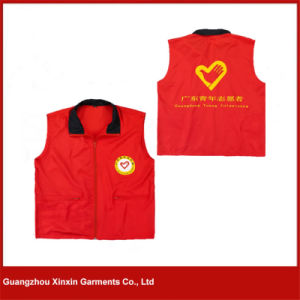 Custom Design Cheap Printed Volunteer Vest Waistcoat Supplier (V23) pictures & photos