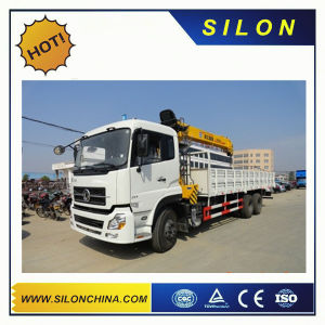 Silon 5t Flodable Boom Truck Mounted Crane with White Color pictures & photos