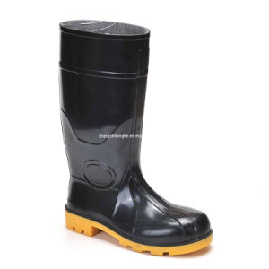 Steel Toe Steel Plate Waterproof Oil-Resistant Salable Safety PVC Boot