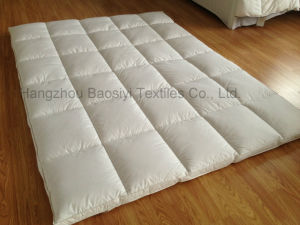Duck Feather and Down Mattress Topper Dual Layer Cassette Construction