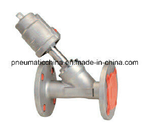 Pneumatic Angle Seat Valve with Flange From China Pneumission pictures & photos