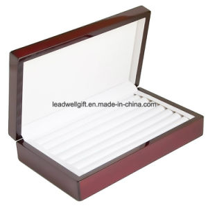 Rosewood Glossy Finish Jewelry Ring Case Display Cuff Links Body Jewelry Storage Box pictures & photos
