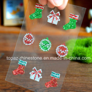 Christmas Bling Stones Sticker with Glitter Sticker for Toy pictures & photos