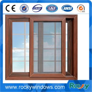 New Style European Champagne Color Aluminum Sliding Window pictures & photos