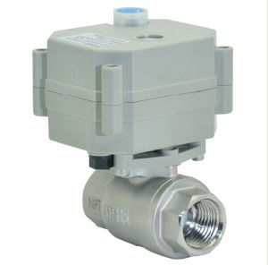 1/2′′ 304 Stainless Steel Electric Actuator Motorized Valve for Water Treatment (T15-S2-B) pictures & photos