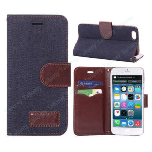 Luxury Cowboy Jeans Pattern Wallet Leather Case for iPhone 6 pictures & photos