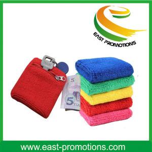 Custom Cotton Wristbands Wrist Sweatband with Zipper pictures & photos