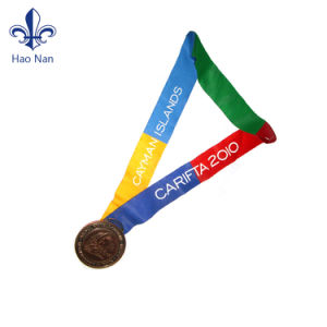 Factory Price Custom Logo Printing Polyester Medal Ribbon pictures & photos