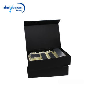 Customized Black Boxes Book Shaped Rigid Paper Packaging Gift Box pictures & photos