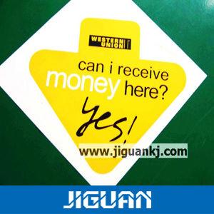 Custom Single Letter Logo Die Cut Window Label Sticker pictures & photos
