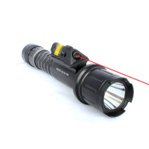 Tactical Strobe 500 Lumen CREE T6 LED Flash Light Torch with Quick Start Red Laser Sight Combo pictures & photos