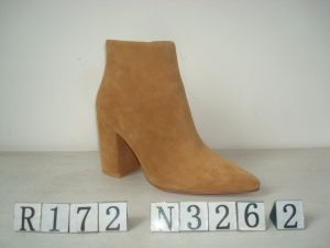 Sexy Suede Upper Leather Boot for Lady pictures & photos