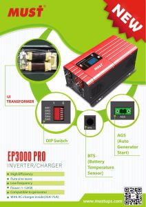 220V 12V Low Frequency Pure Sine Wave Solar Hybrid Inverter pictures & photos