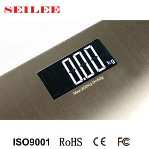 0.3mm Stainless Steel Slim Electronic Bathroom Body Weighing Scale pictures & photos