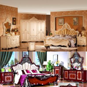 Classic King Size Bed for Classical Bedroom Furniture (3011) pictures & photos