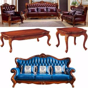 Classic Leather Sofa with Chaise Lounge for Home Furniture (508A) pictures & photos