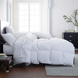 White Color Double Stitching Goose Feather Comforter 15% Down Feather Quilt 85% Feather Down Duvet pictures & photos