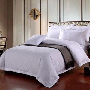 Factory Sale Cotton Polyeaster Embossed White Color Cotton Duvet Cover (JRD131)