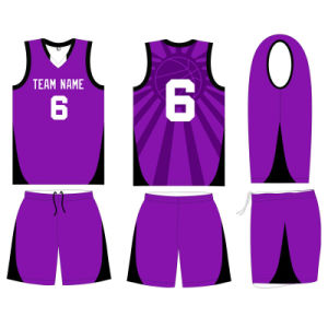 Customized Women Sublimated Basketball Uniform for Team pictures & photos